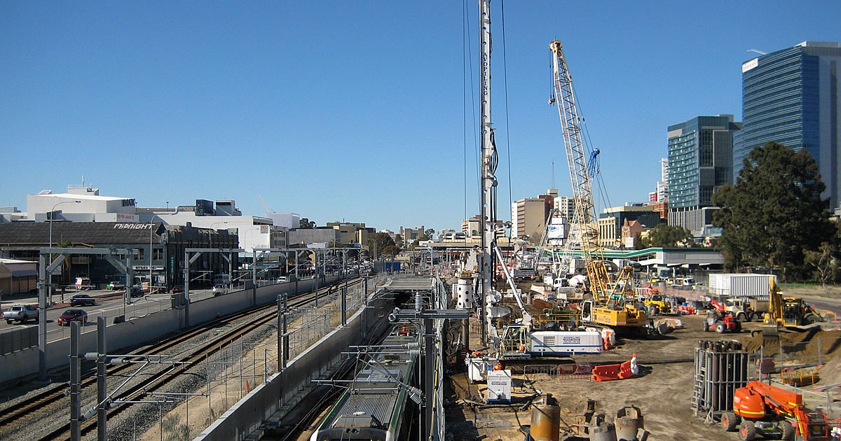 Piling works adjacent to live rail